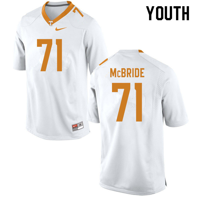 Youth #71 Melvin McBride Tennessee Volunteers College Football Jerseys Sale-White