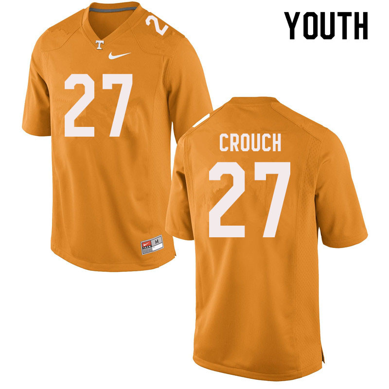Youth #27 Quavaris Crouch Tennessee Volunteers College Football Jerseys Sale-Orange