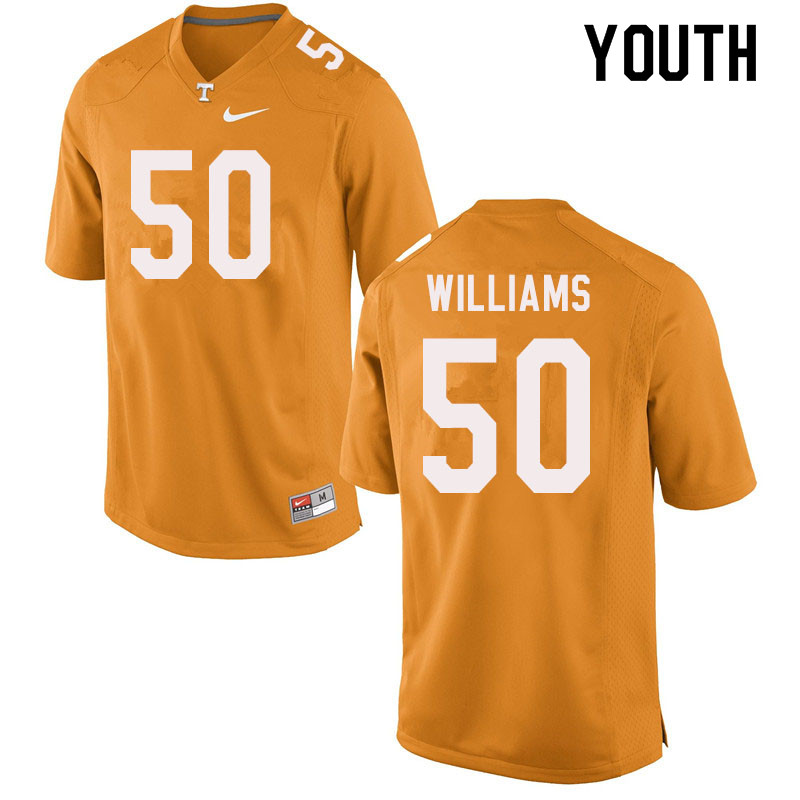 Youth #50 Savion Williams Tennessee Volunteers College Football Jerseys Sale-Orange