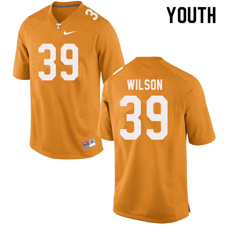 Youth #39 Toby Wilson Tennessee Volunteers College Football Jerseys Sale-Orange