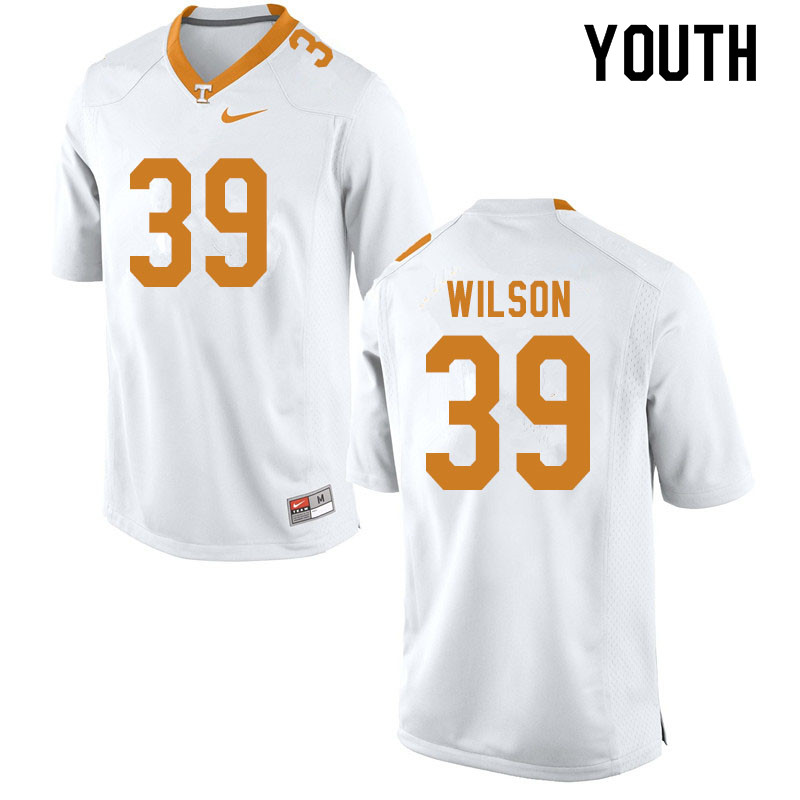 Youth #39 Toby Wilson Tennessee Volunteers College Football Jerseys Sale-White