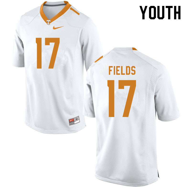 Youth #17 Tyus Fields Tennessee Volunteers College Football Jerseys Sale-White