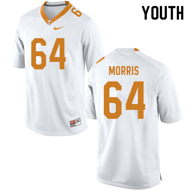 Youth #64 Wanya Morris Tennessee Volunteers College Football Jerseys Sale-White