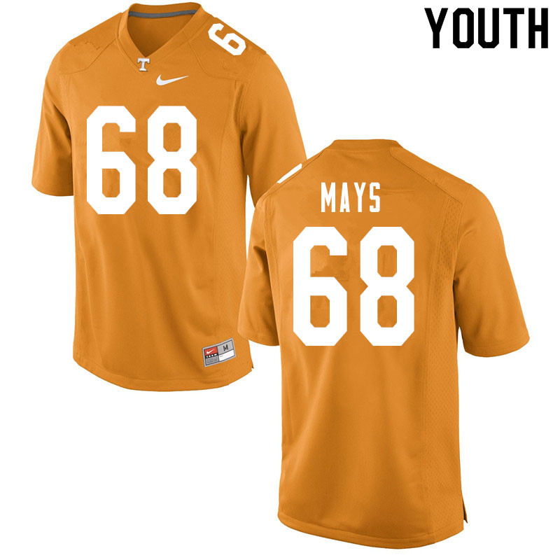 Youth #68 Cade Mays Tennessee Volunteers College Football Jerseys Sale-Orange