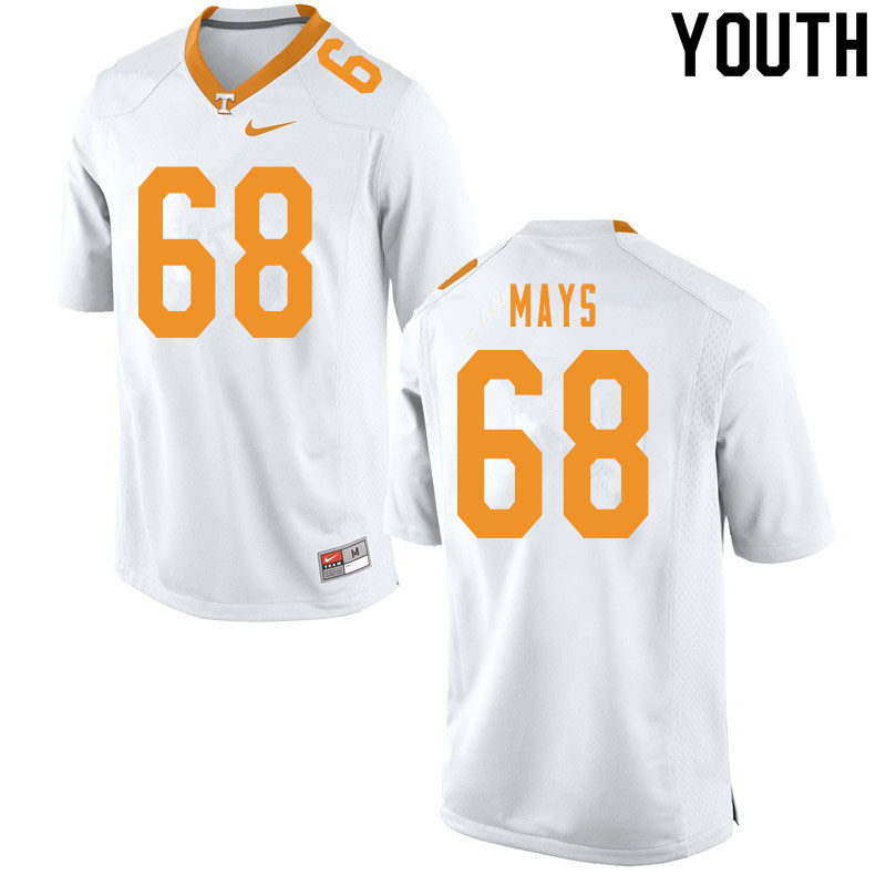 Youth #68 Cade Mays Tennessee Volunteers College Football Jerseys Sale-White