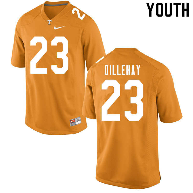 Youth #23 Devon Dillehay Tennessee Volunteers College Football Jerseys Sale-Orange