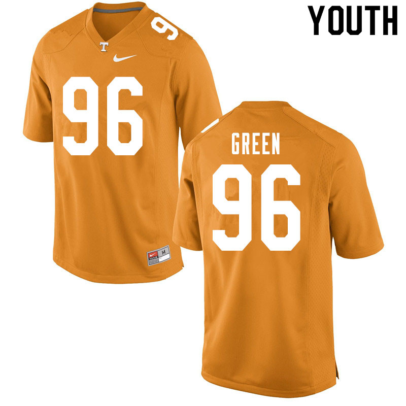 Youth #96 Isaac Green Tennessee Volunteers College Football Jerseys Sale-Orange