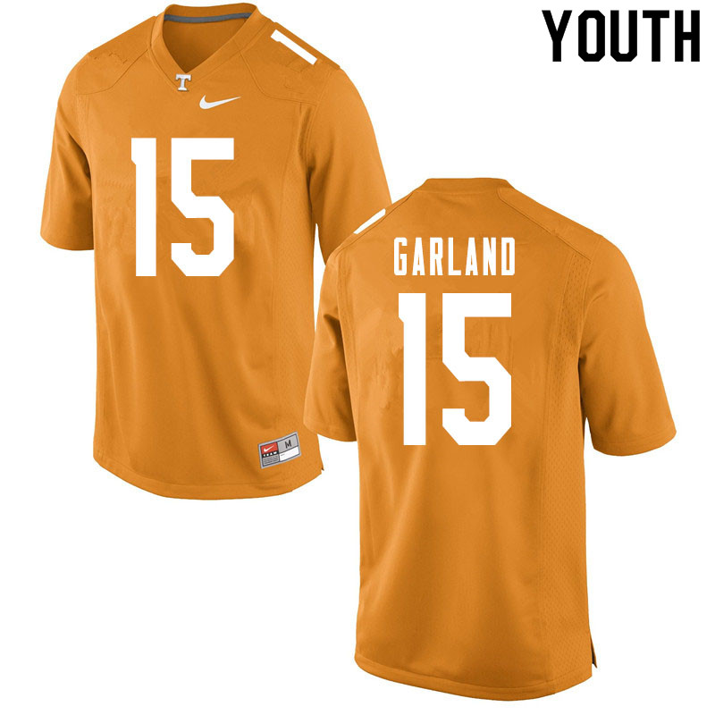 Youth #15 Kwauze Garland Tennessee Volunteers College Football Jerseys Sale-Orange