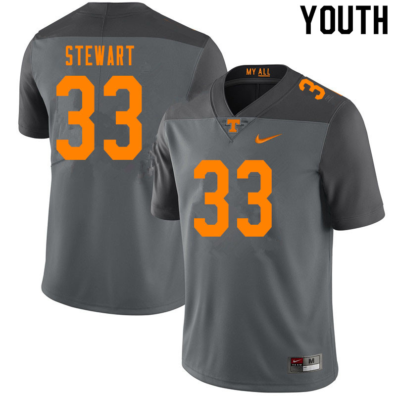 Youth #33 Tyrik Stewart Tennessee Volunteers College Football Jerseys Sale-Gray