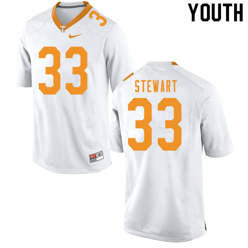 Youth #33 Tyrik Stewart Tennessee Volunteers College Football Jerseys Sale-White