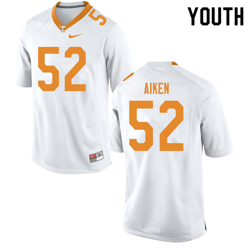 Youth #52 Bryan Aiken Tennessee Volunteers College Football Jerseys Sale-White