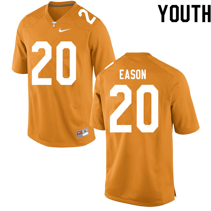 Youth #20 Bryson Eason Tennessee Volunteers College Football Jerseys Sale-Orange