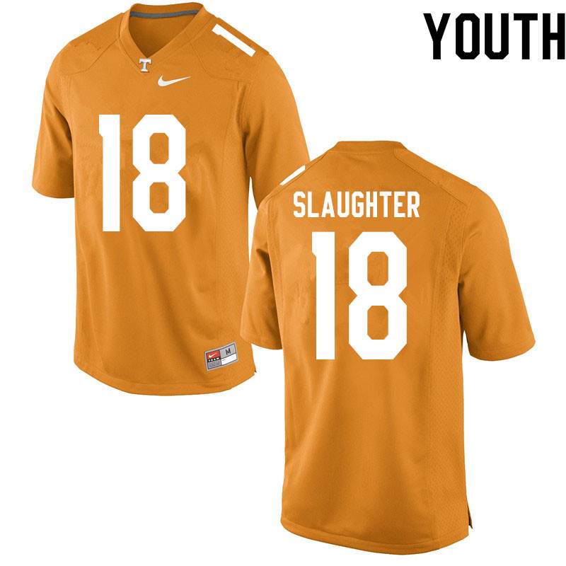 Youth #18 Doneiko Slaughter Tennessee Volunteers College Football Jerseys Sale-Orange