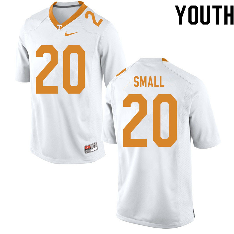 Youth #20 Jabari Small Tennessee Volunteers College Football Jerseys Sale-White