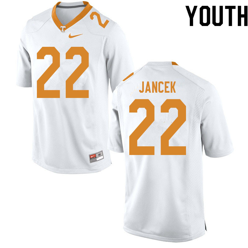 Youth #22 Jack Jancek Tennessee Volunteers College Football Jerseys Sale-White