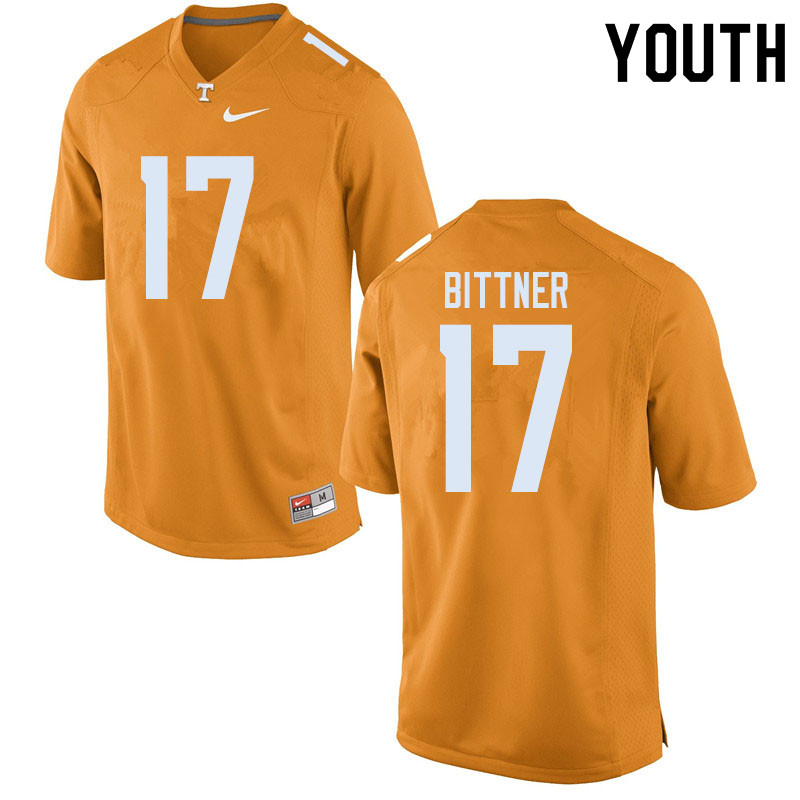 Youth #17 Michael Bittner Tennessee Volunteers College Football Jerseys Sale-Orange