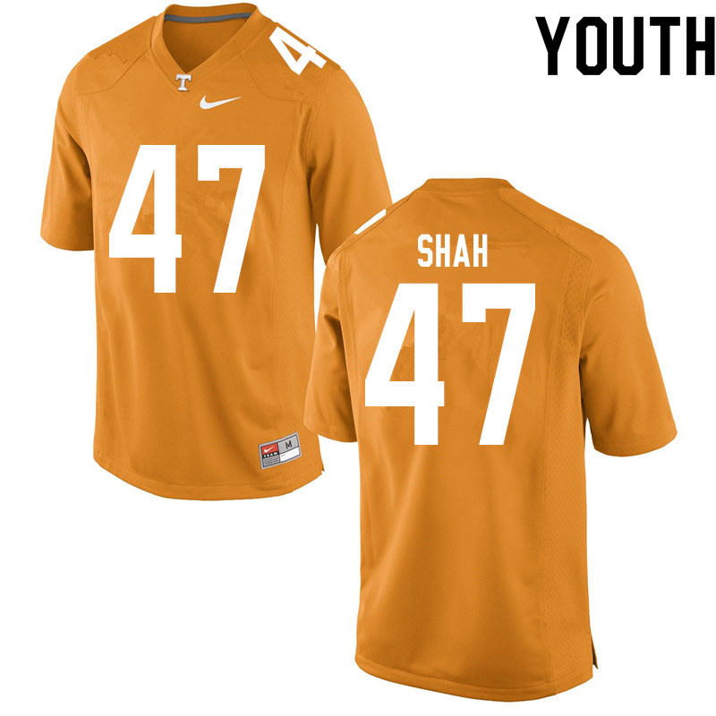 Youth #47 Sayeed Shah Tennessee Volunteers College Football Jerseys Sale-Orange