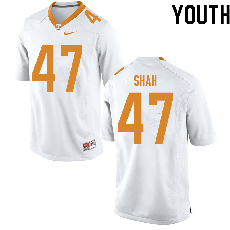 Youth #47 Sayeed Shah Tennessee Volunteers College Football Jerseys Sale-White