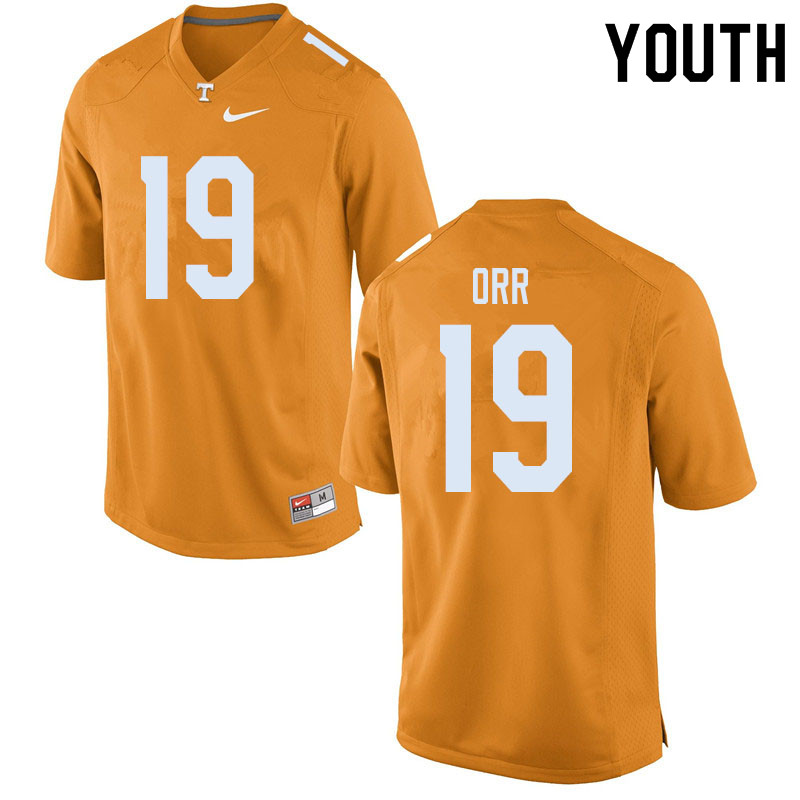 Youth #19 Steven Orr Tennessee Volunteers College Football Jerseys Sale-Orange