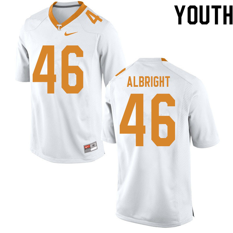 Youth #46 Will Albright Tennessee Volunteers College Football Jerseys Sale-White