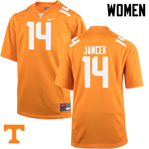 Women #14 Zac Jancek Tennessee Volunteers College Football Jerseys-Orange