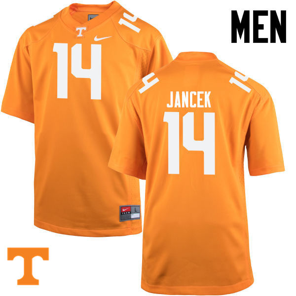 Men #14 Zac Jancek Tennessee Volunteers College Football Jerseys-Orange